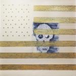 "Amerikan Skull by Natasa Burnett - Amerikan Skull - 60"" x 60"""